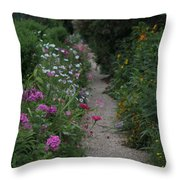 Pathway Of Monet's Garden Throw Pillow