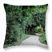 Pathway Of Monks Throw Pillow