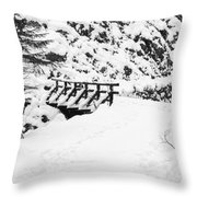Pathway Through The Snow Throw Pillow