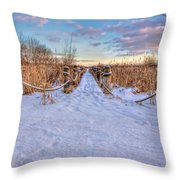 Pathway To Crooked Lake Throw Pillow by Jenny Ellen Photography