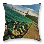 Pathway To The Golden Gate Throw Pillow