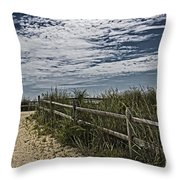 Pathway To The Sea Throw Pillow by Tom Gari Gallery-Three-Photography