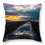 Pathway To The Sun Throw Pillow by Mary Amerman