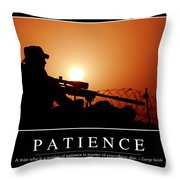 Patience Inspirational Quote Throw Pillow by Stocktrek Images