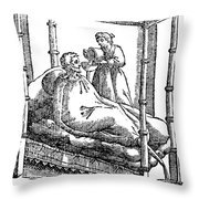 Patient And Nurse, 1646 Throw Pillow