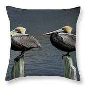 Patient Pair Throw Pillow