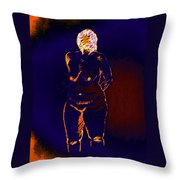 Patient Woman Throw Pillow