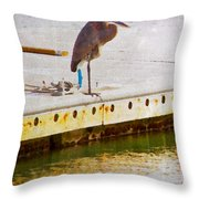 Patiently Pensive Throw Pillow