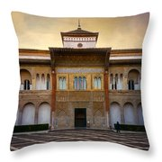 Patio De La Montaria II Throw Pillow