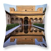 Patio De Los Arrayanes La Alhambra Throw Pillow