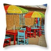 Patio Old Town Albuquerque New Mexico Dsc08203 Throw Pillow
