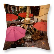 Patio Unbrellas Throw Pillow