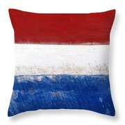 Side Lines Throw Pillow