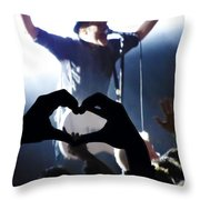 Patrick Stump Of Fall Out Boy Throw Pillow