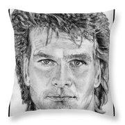 Patrick Swayze In 1989 Throw Pillow