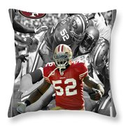 Patrick Willis 49ers Throw Pillow