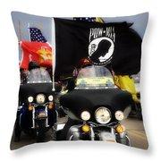 Patriot Riders Throw Pillow