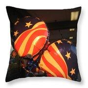Patriotic Balloons Veteran's Day Casa Grande Arizona 2004 Throw Pillow