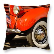 Patriotic Car Throw Pillow