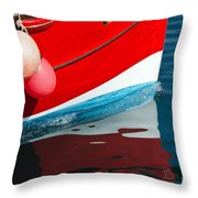 Patriotic Colours Throw Pillow