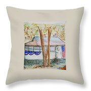 Patriotic Cottage Throw Pillow