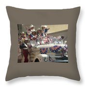 Patriotic Cowgirls Firetruck July 4th Parade Prescott Arizona 2002 Throw Pillow