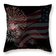 Patriotic Throw Pillow by Dianne Phelps