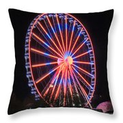 Patriotic Ferris Wheel Throw Pillow
