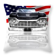 Patriotic Ford F100 1960 Throw Pillow