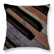 Patriotic Key Throw Pillow