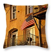 Patriotic Throw Pillow by Southern Photo