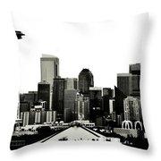 Patriotic Seattle Throw Pillow