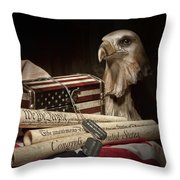 Patriotism Throw Pillow by Tom Mc Nemar