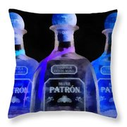 Patron Tequila Black Light Throw Pillow
