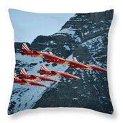 Patrouille Suisse Vll Throw Pillow
