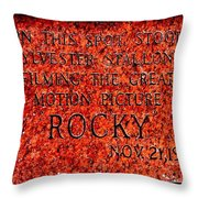 Pats Steaks - Rocky Plaque Throw Pillow