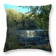 Patsiliga Creek Falls Throw Pillow
