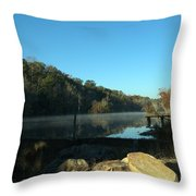 Patsiliga Creek Lake Throw Pillow