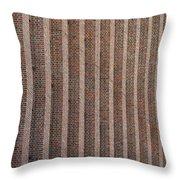 Patterend Brick Facade Throw Pillow