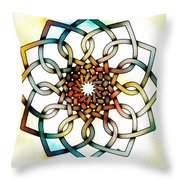 Pattern 18 Colourised Throw Pillow