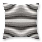 Pattern - Corrugated Metal Throw Pillow