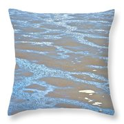 Pattern In Mud Flats At Low Tide In Kachemak Bay From Homer Spit-alaska Throw Pillow