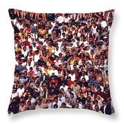 Pattern Of Brave Footballers Throw Pillow