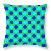 Pattern Of Circles Throw Pillow