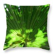 Green Plant Pattern Throw Pillow