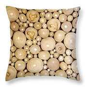 Pattern Of The Wood Pieces Throw Pillow