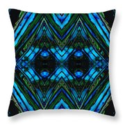 Patterned Art Prints - Cool Change - By Sharon Cummings Throw Pillow