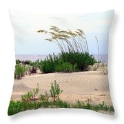 Patterned Dune With Oats Throw Pillow