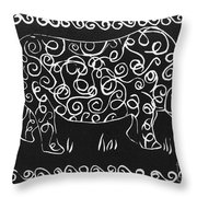 Patterned Rhino Throw Pillow