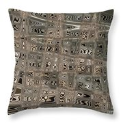 Patterned Ripples Throw Pillow